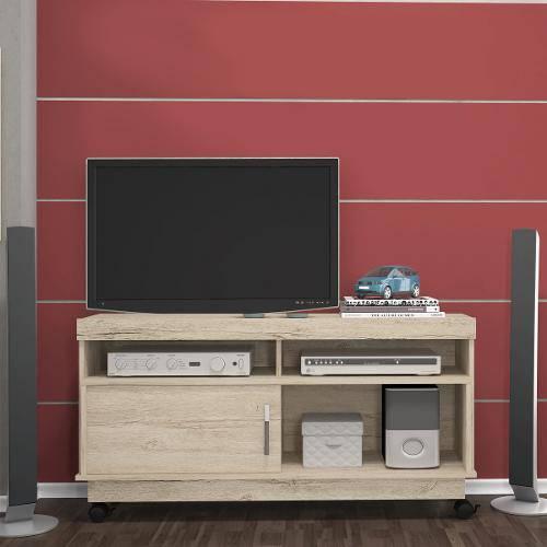 Rack Artur em Mdp 1 Porta Ideal para Tv de Até 50 Rustico Madetec