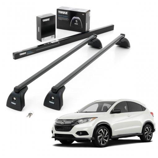 Rack de Teto Completo Thule SquareBar Honda HRV 2015 a 2019 Thule