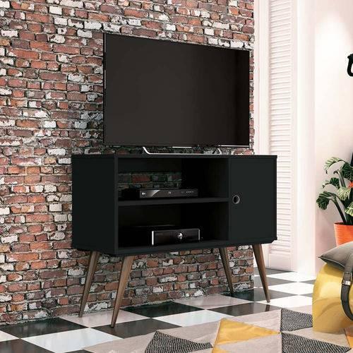 Rack P/ Tv Ate 37 Pol Reale Estilo Vintage Retro Preto Fosco