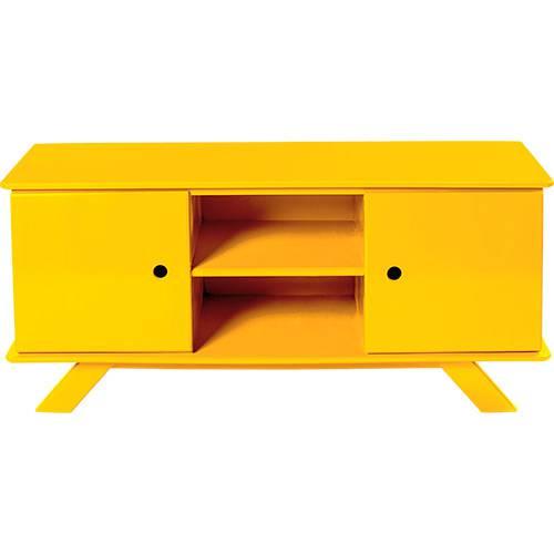 Rack Palito 2 Portas Amarelo - Mundo Móveis