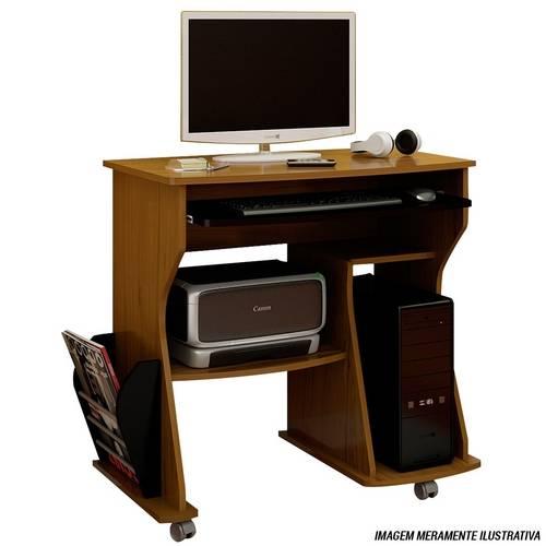 Rack para Computador Mdf Cor Imbua com Preto 003093 Artely