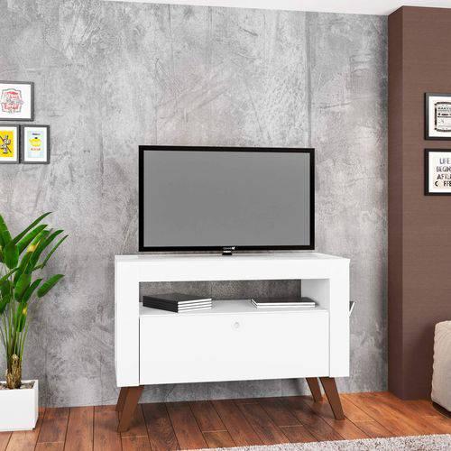 Rack para TV Até 47 Polegadas 1 Gaveta Toronto Sala Contemporâneo Art In Móveis Branco