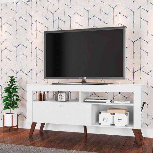 Rack para TV Até 55 Polegadas Montreal Sala Contemporâneo Art In Móveis Branco