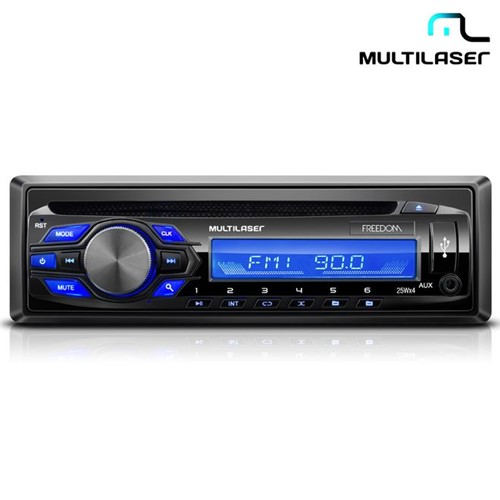 Rádio Automotivo com CD Player, USB, Mp3 Freedom P3239 - Multilaser