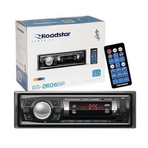 Radio Automotivo Toca MP3 Roadstar RS-2606BR Bluetooth USB
