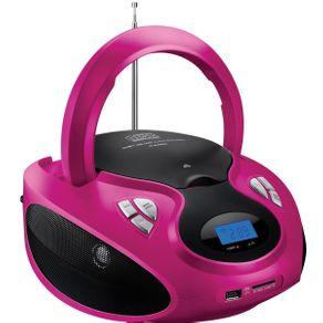 Rádio Boombox Multilaser SP179 20W RMS CD/USB/SD/FM/AUX Rosa e Preto