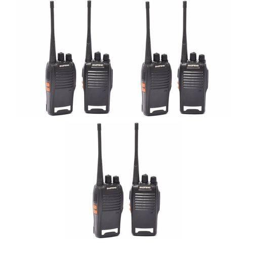 Radio Comunicador Baofeng 777s 16can 12km - Kit com 3 Pares