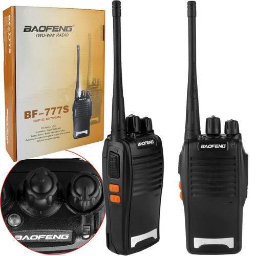 Radio Comunicador Walk Talk com Carregador e Fone de Ouvido Par Bf-777s Bf-777s Baofeng