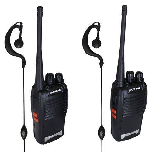 Rádio Comunicador Walk Talk com Fone de Ouvido