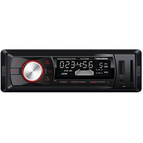 Rádio Mp3 Player Roadstar Rs2709 Am/fm Bluetooth com Controle (entrada Usb/cartão)