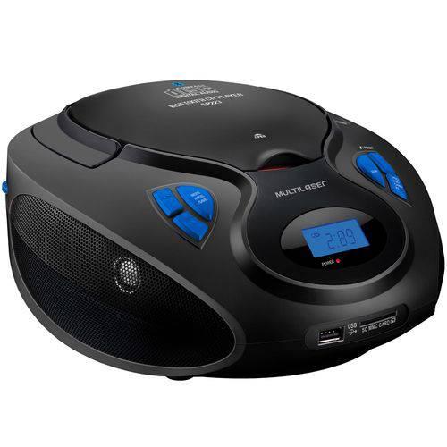 Rádio Portátil Multilaser Boombox Sp223 Preto, 20w Rms - Cd Player / Bluetooth / Rádio Fm / Usb / Sd