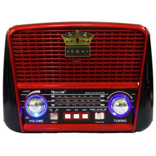 Rádio Portátil Retrô Vintage Am Fm Bluetooth USB Cartão Sd