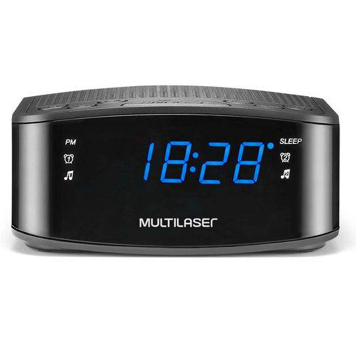 Radio Relógio Digital Alarme Despertador Painel de Led Multilaser Sp288