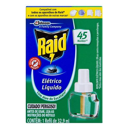 Raid Elétrico Líquido 45 Noites Óleo de Eucalipto Refil com 32,9ml