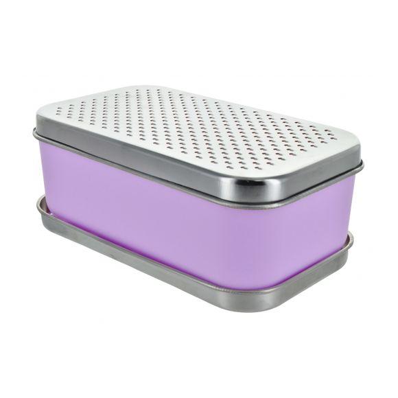 Ralador Retangular com Dispenser Roxo Basic Kitchen