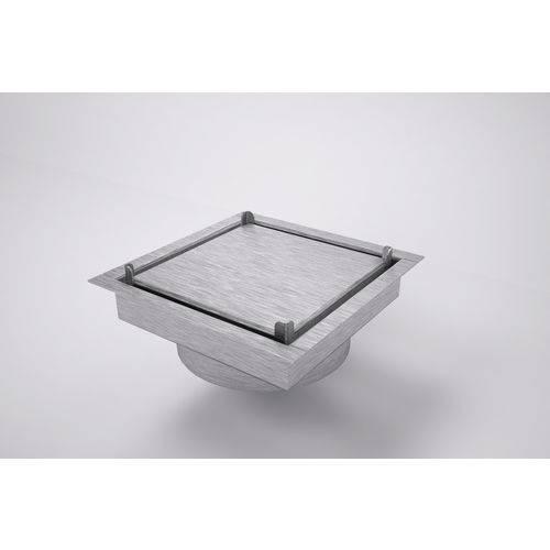 Ralo Invisível Quadrado 15 X 15 Cm Inox