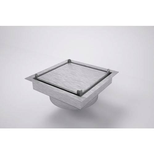 Ralo Invisível Quadrado 10 X 10 Cm de Inox