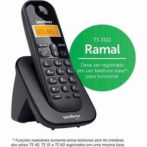 Ramal para Telefone Fixo Sem Fio Intelbras Ts3111
