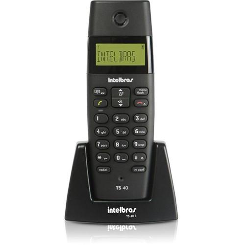 Ramal Telefônico Sem Fio, DECT 6.0, Identificador de Chamadas, Agenda, TS 40 R - Intelbras