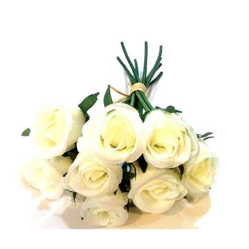 Ramo de Rosas Artificial Branca - Unidade