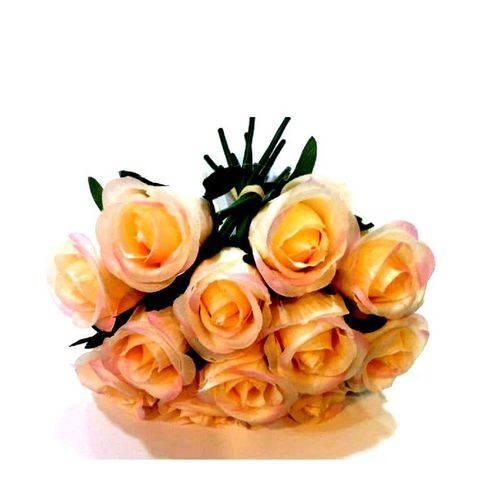 Ramo de Rosas Artificial Rosa - Unidade