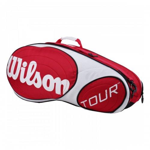 Raqueteira Esp Tour 6R Vermelha e Branca - Wilson