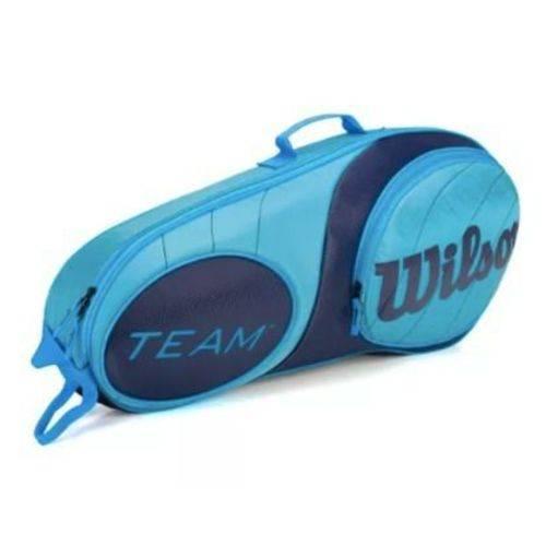Raqueteira Wilson Team 3pk Azul Claro