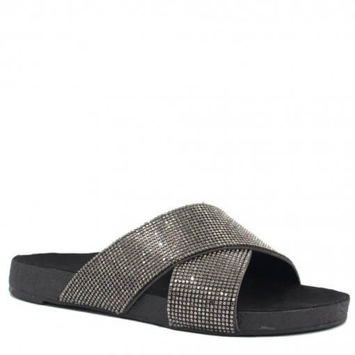 Rasteira Zariff Shoes Birken Strass 108011 | Betisa