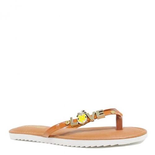 Rasteira Zariff Shoes Verniz Love 99-703ZRF | Betisa