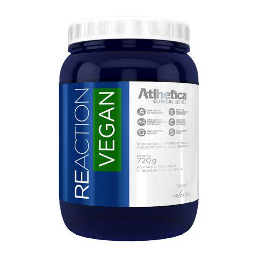 Reaction Vegan - 720g - Baunilha - Atlhetica Nutrition