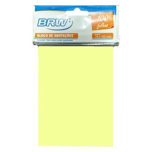 Recados Adesivos 76X102 1 Bloco Amarelo