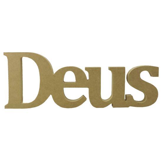 Recorte Enfeite de Mesa Deus 42x15cm - Madeira MDF
