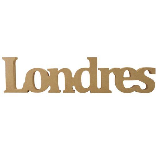 Recorte Enfeite de Mesa Londres 52,5x12cm - Madeira MDF