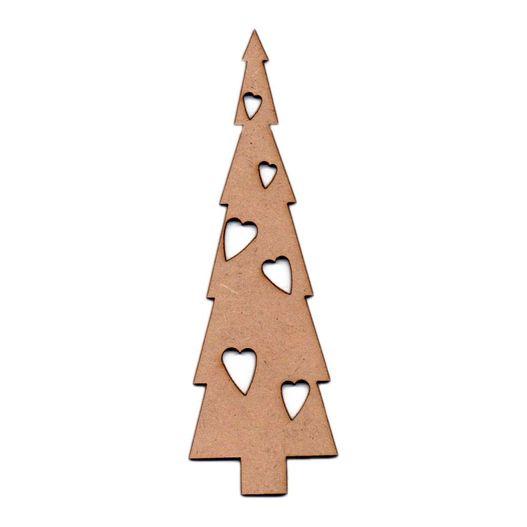 Recorte Laser Árvore Natal Corações G