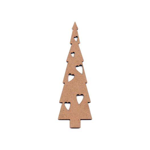 Recorte Laser Árvore Natal Corações P