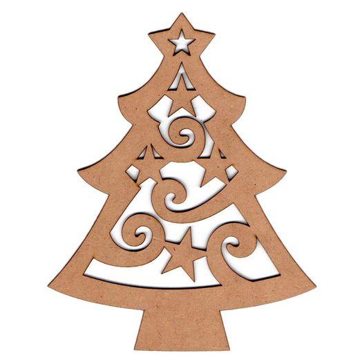 Recorte Laser Árvore Natal Estrelada G