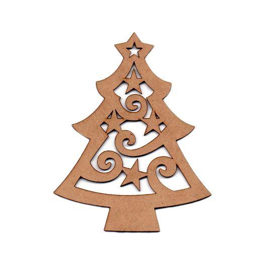 Recorte Laser Árvore Natal Estrelada P