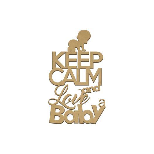 Recorte Laser Keep Calm Baby