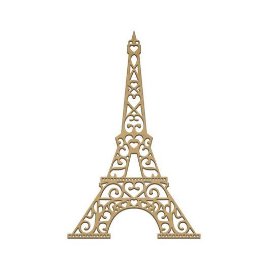 Recorte Laser Torre Eiffel M