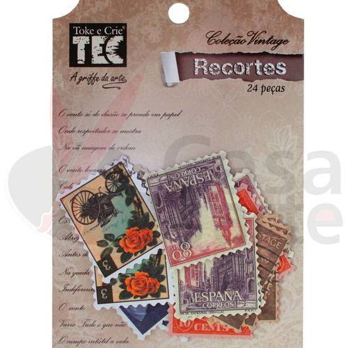 Recortes Vintage de Papel Toke e Crie Figuras Selos - 12842 - DC04
