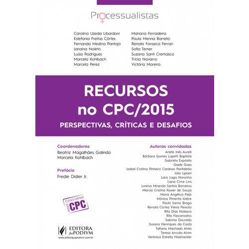 Recursos no CPC/2015: Perspectivas, Críticas e Desafios (2017)