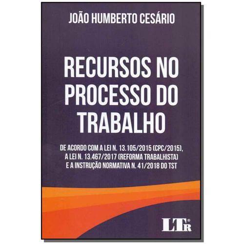 Recursos no Processo do Trabalho - 01ed/18