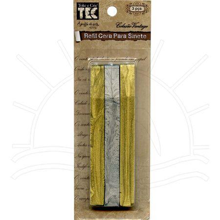 Refil Cera para Sinete Coleção Vintage Toke e Crie - Dourado e Prata