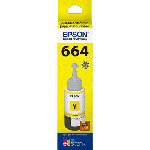 Refil de Tinta Amarelo T664420 Epson