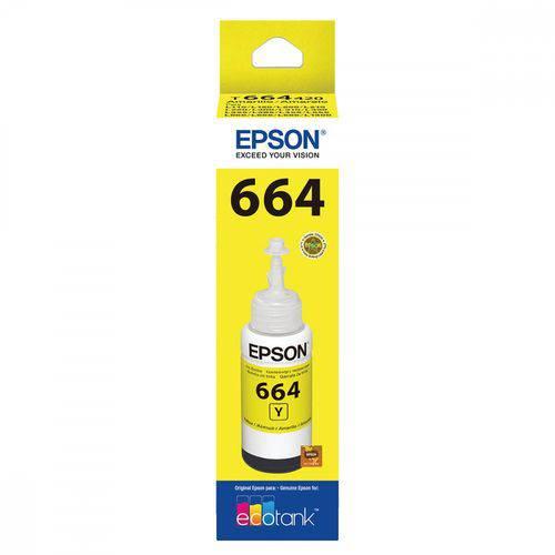 Refil de Tinta Epson 664 Amarelo T664420