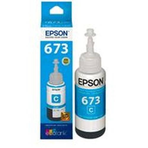 Refil de Tinta Epson Ciano para Impressora L800, L805 e L1800 - T673220-Al