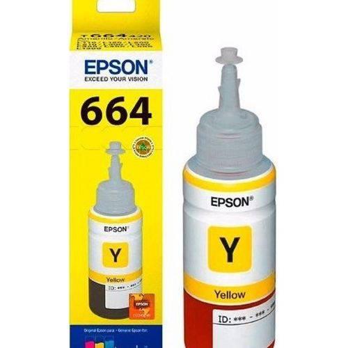 Refil de Tinta Original Epson T664420 Yellow L355/L365/L200/L110/L555 | 70ML