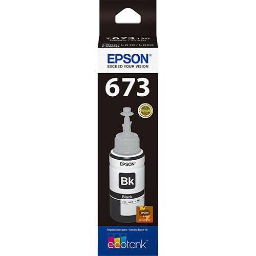 Refil de Tinta Preto T673120 Epson