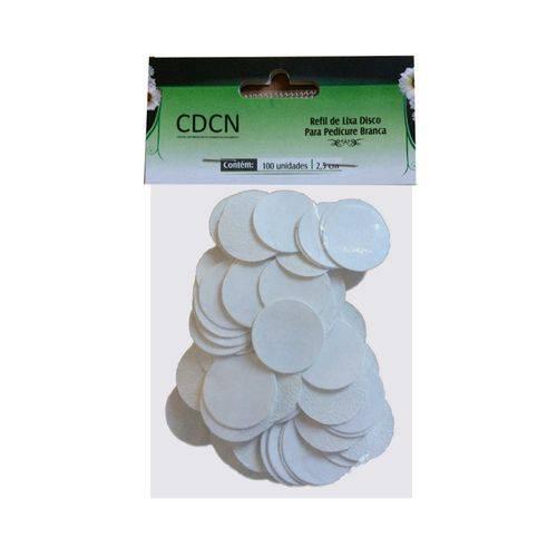 Refil Lixa Branca Pedicuro Adesiva Disco 100 Unidades Cdcn