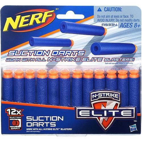 Refil Nerf N-Strike Elite Sucção 12 Dardos Hasbro